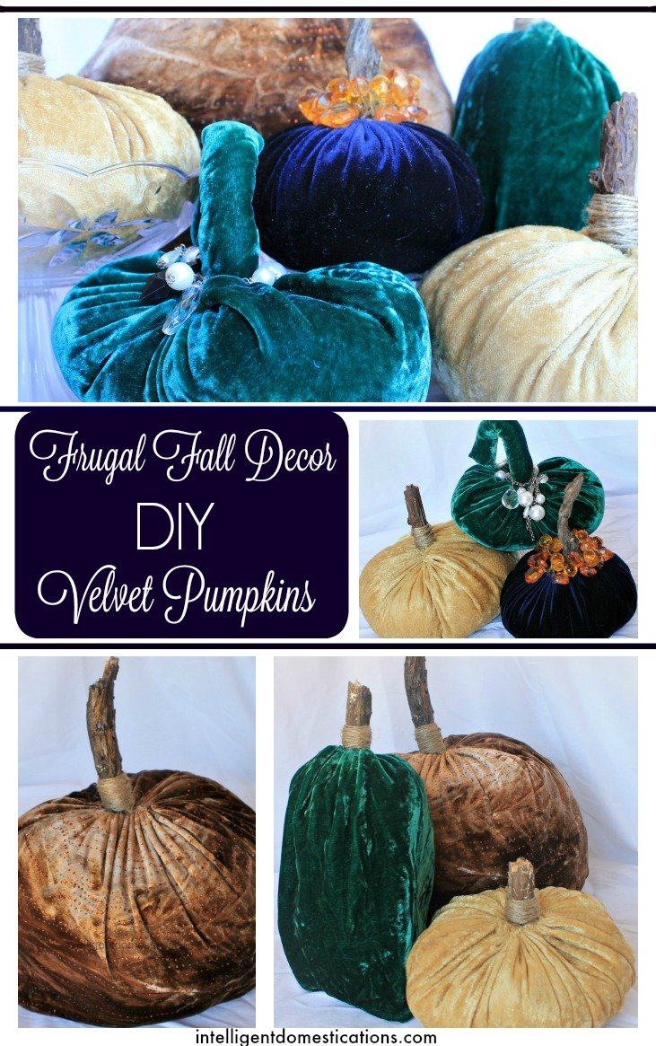How to make Velvet Pumpkins. It's not as hard as you may think. If you can sew by hand, you can make these.