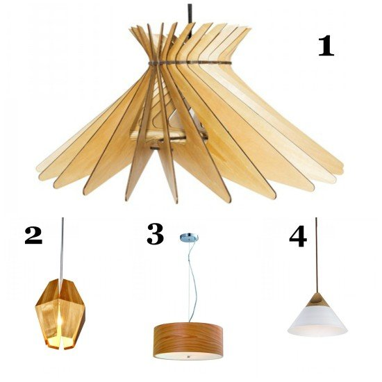 Chic wooden pendant lighting by Parrot Uncle