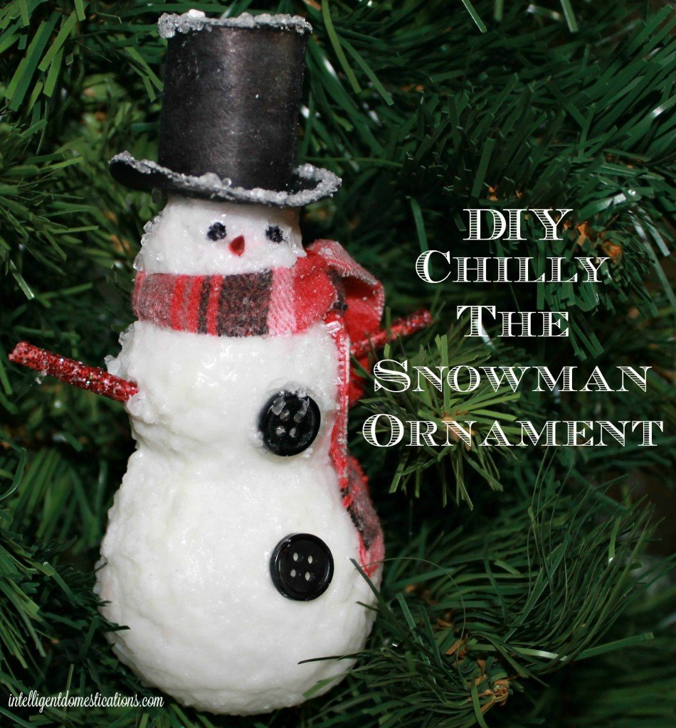 How To Make A DIY Chilly The Snowman Christmas Ornament. If you love Snowman decor during the Holidays, you can make this DIY Ornament yourself with our easy tutorial. #snowmanornament #Christmasornament #diyornament