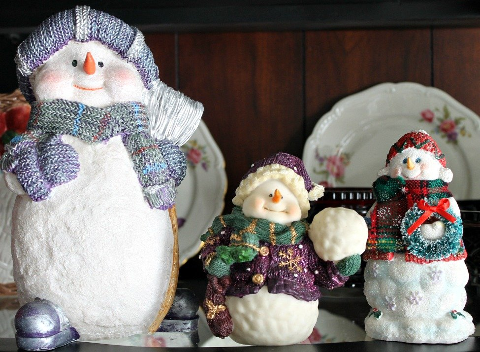 Christmas Home Tour 2015.Snowman Family.intelligentdomestications.com