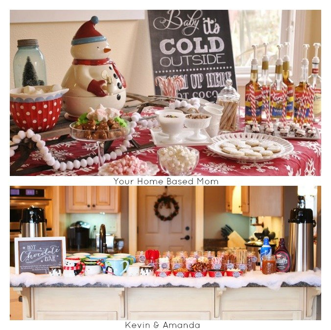 Hot Bar Ideas for 12 Days of Christmas