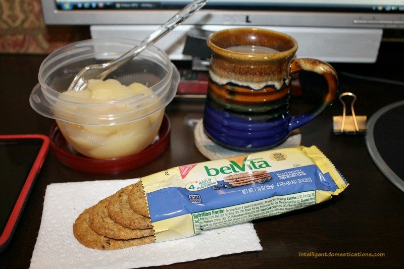 belVita Breakfast Biscuits and fruit for a satisfying breakfast.intelligentdomestications.com