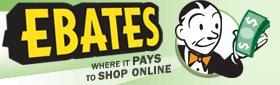 Earn Cash back when you shop online through ebates