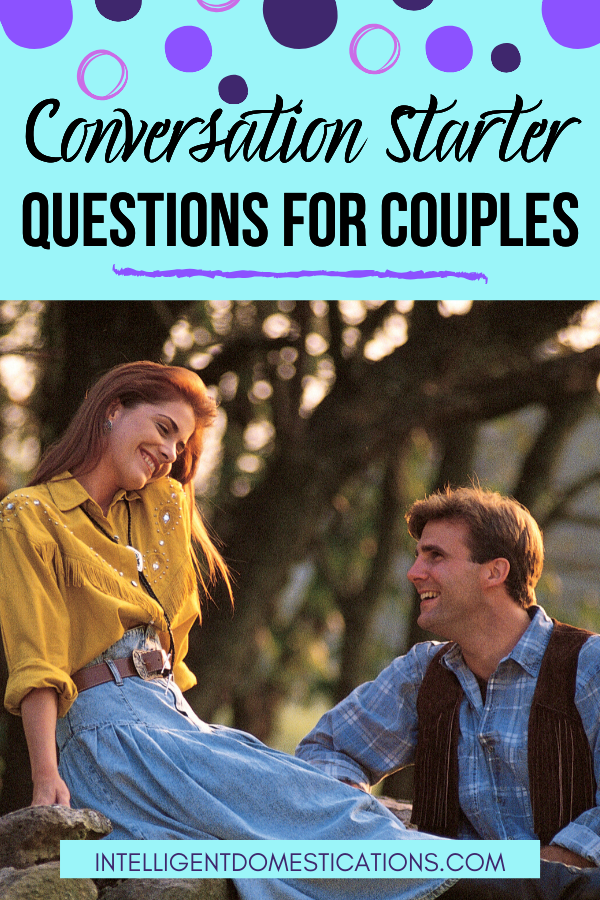 Date night questions for couples to get the conversation started. 110 conversation starter questions for couples of all ages. Date night or any night, these questions will spark a conversation. Road trip conversation starters.