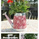 DIY Decorative Watering Can Centerpiece an easy craft project for only five dollars.intelligentdomestications.com