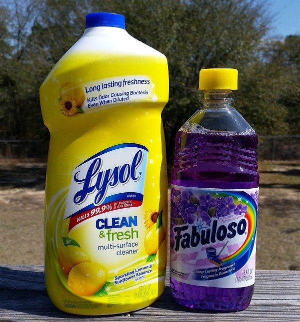 My favorite floor cleaners are Lysol and Fabuloso.intelligentdomestications.com