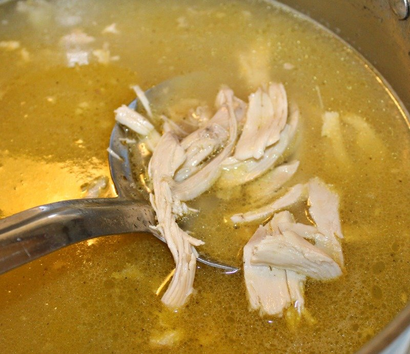 How to make homemade chicken broth. Make this boiled chicken and broth to use in your Cornbread Dressing for Thanksgiving or for Homemade Chicken and Dumplings or Homemade Chicken Pot Pie