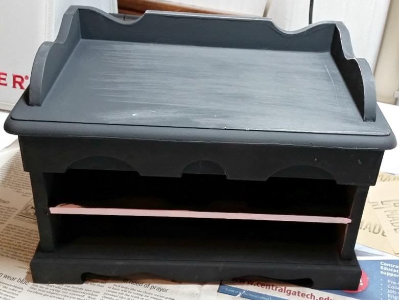 Third coat of paint, flat black
