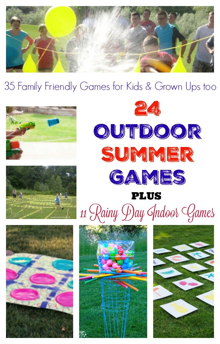 Summer Outdoor Games. Outdoor games for summer plus 11 Rainy day indoor games