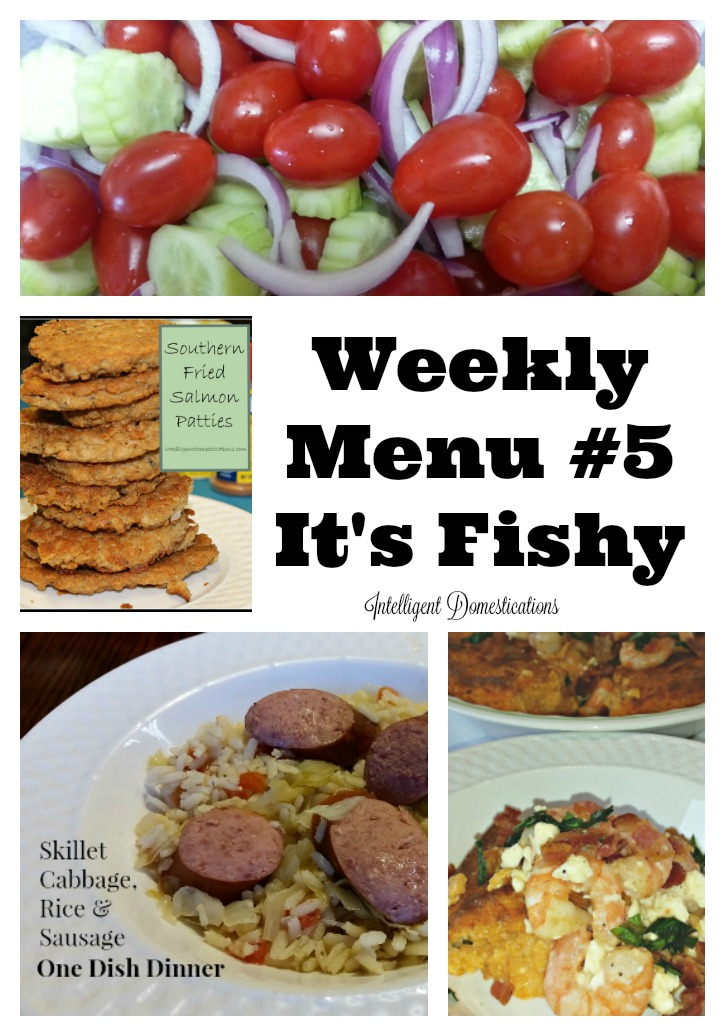 Weekly Menu #5 It's Fishy