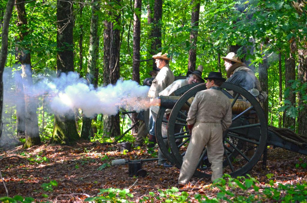 picketts mill cannon smoke