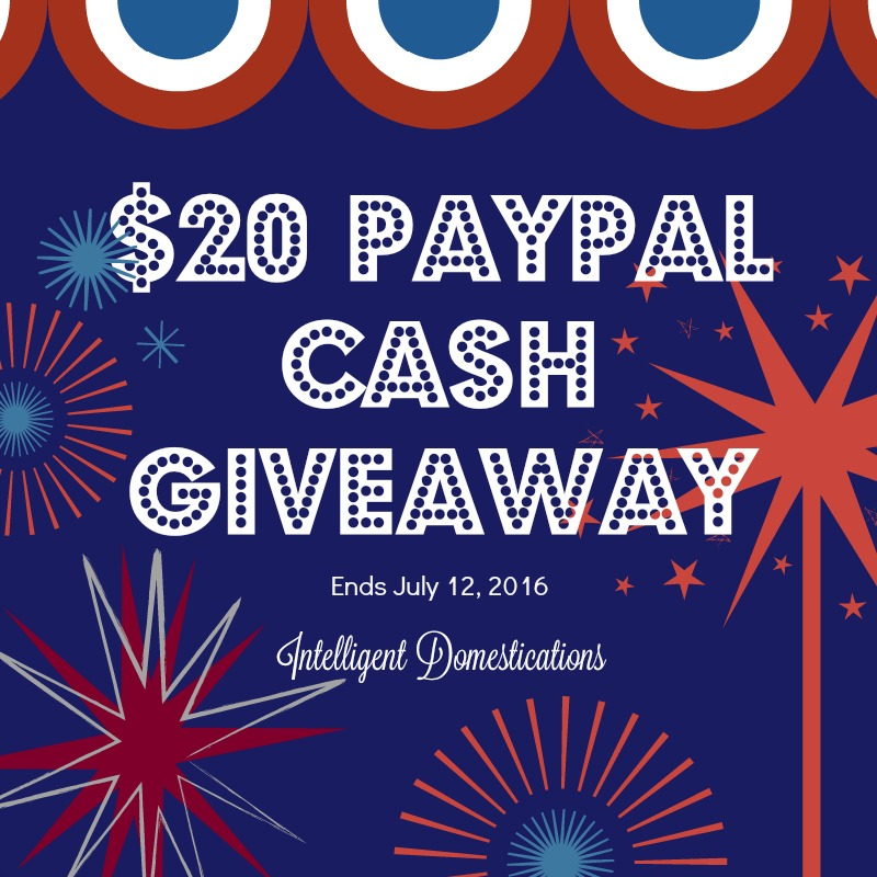 Enter to win $20 Paypal Cash at intelligentdomestications.com Ends July 12, 2016