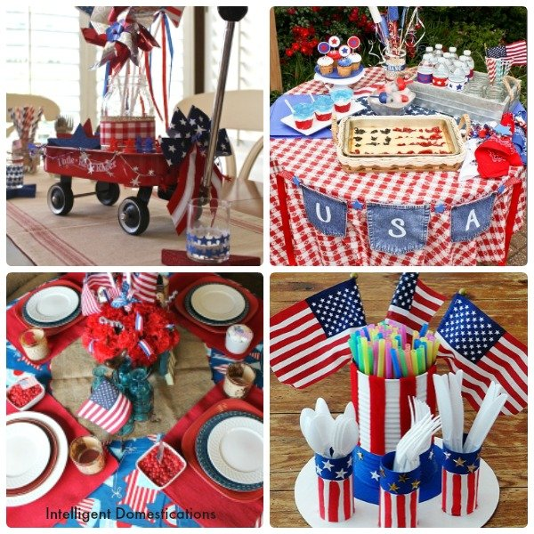 10 Patriotic Table Decor Ideas. Patriotic Tablescape Ideas. How to set a Red, White and Blue Table. July 4th Tablescape Ideas. 4th of July Tablescape Ideas. #Patriotictable #redwhiteandbledecor #patrioticdecor