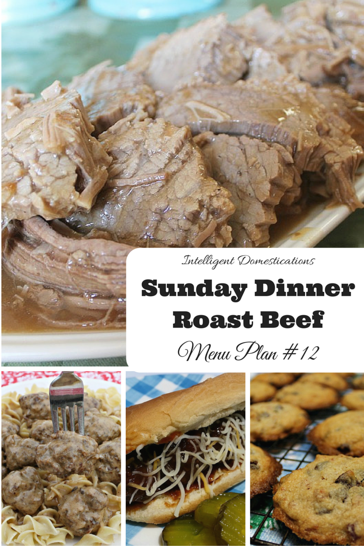 Sunday DinnerRoast BeefMenu Plan #12