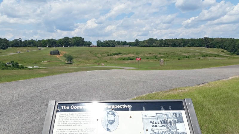 The Commander's Perspective of the prison site at Andersonville Civil War Prison in Georgia