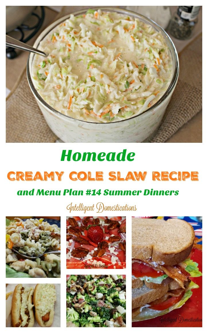 Homemade Creamy Cole Slaw Recipe and Menu Plan #14