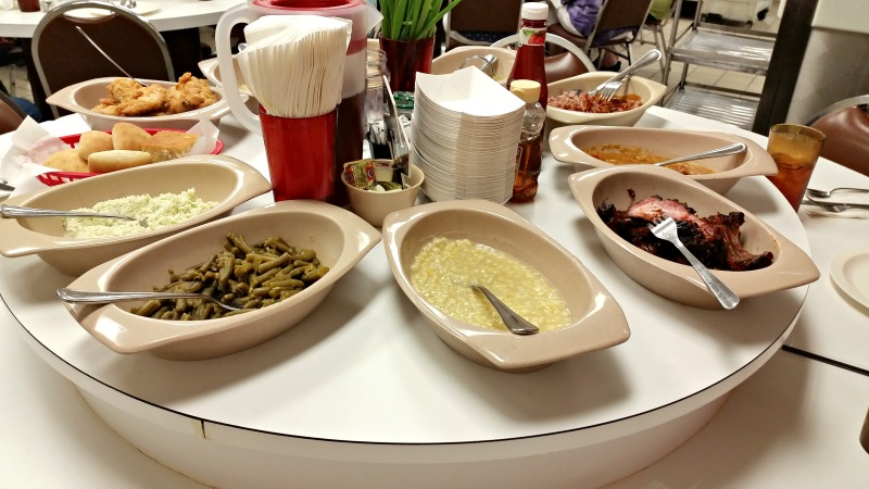 Buckner's Family Restaurant in Jackson, Ga. A wonderful family friendly restaurant with home cooked meals served on lazy susan tables. intelligentdomestications.com.jpg