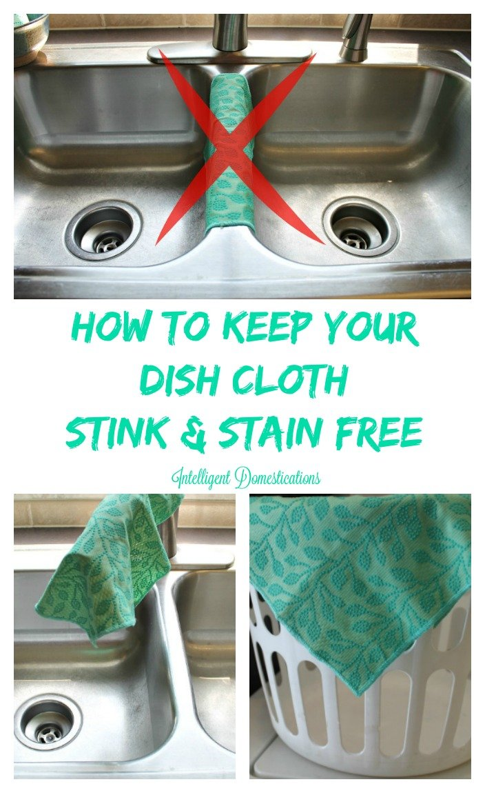 How To Keep Your dishcloth stink and stain free