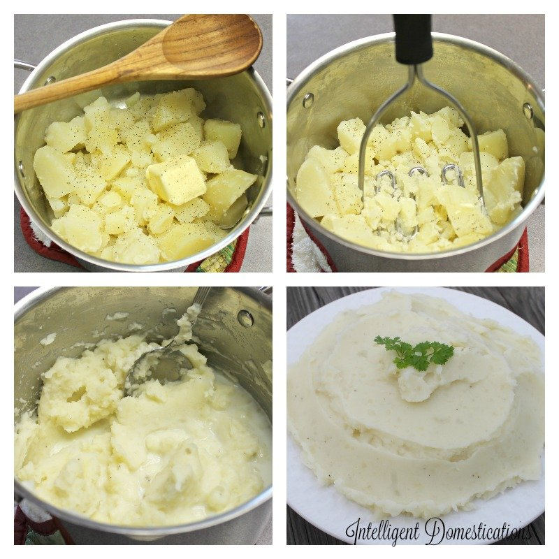 Made from scratch Mashed Potatoes are so easy you can teach the children how to do it.