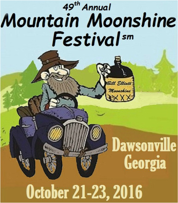 Mountain Moonshine Festival. Dawsonville,Ga. Oct. 21-23 2016