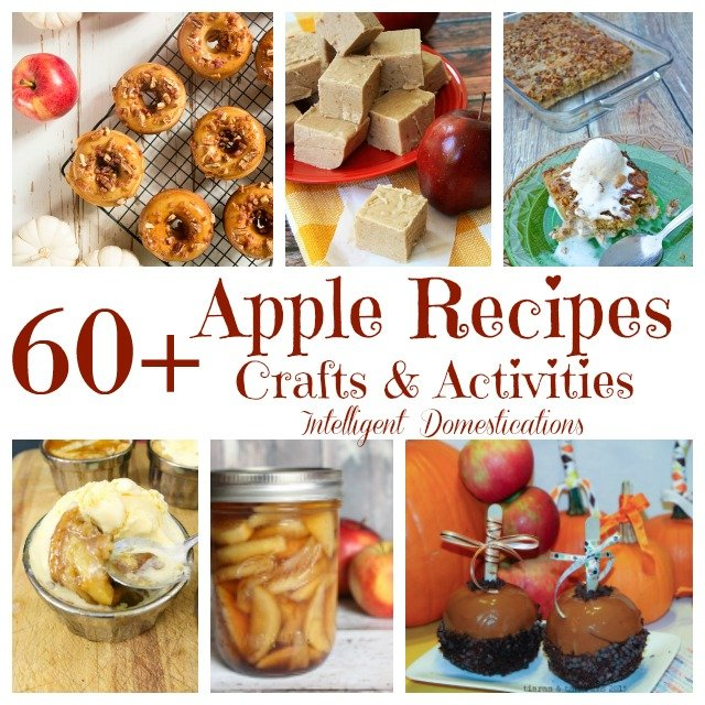 Sixty Plus Ideas in this Apple collection for fall. Apple Recipes. Apple Crafts and Apple activity ideas for the family. #applerecipes #applecrafts