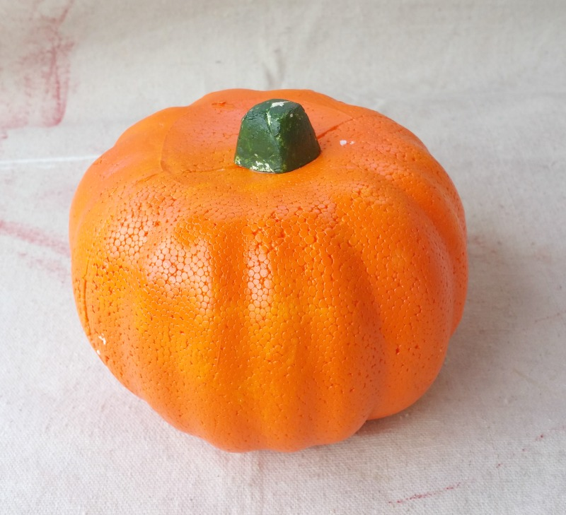 dollar-store-styrofoam-pumpkin