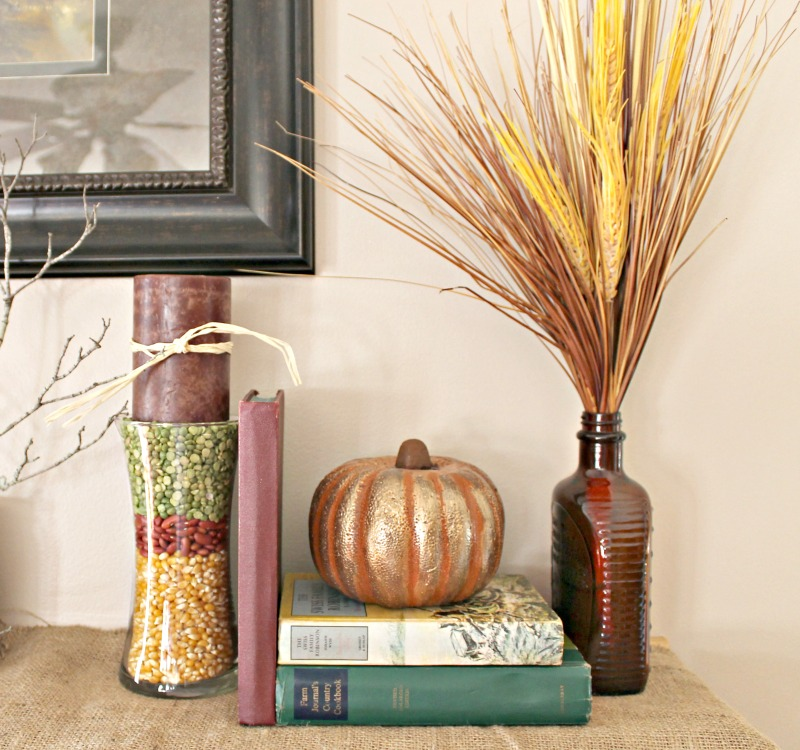 Fall Mantle Vignette Ideas.