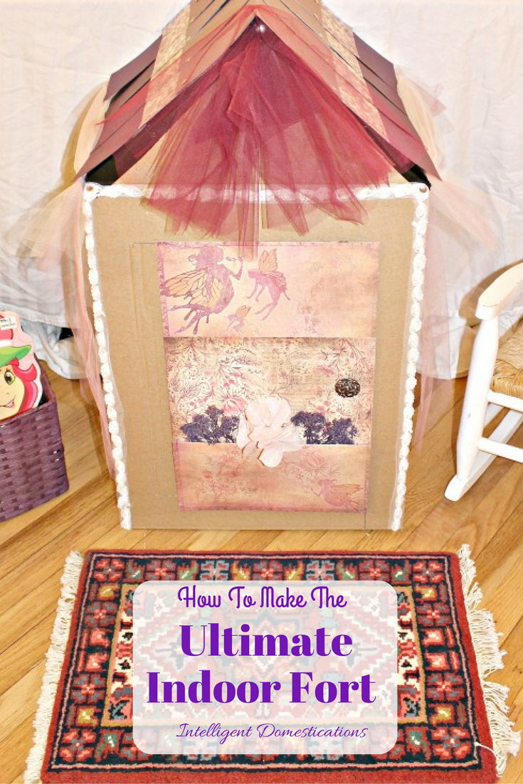 How to Build the Ultimate Indoor Fort #upcyclebox #repurposebox