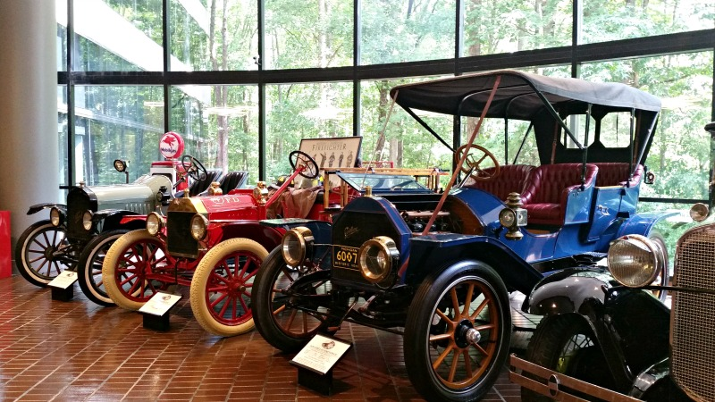 Chick Fil A Home Office Backstage Tour in Atlanta, Ga. #chikfila #hobst. just-a-few-of-the-antique-car-collection-vehicles-at-chik-fil-a-home-office