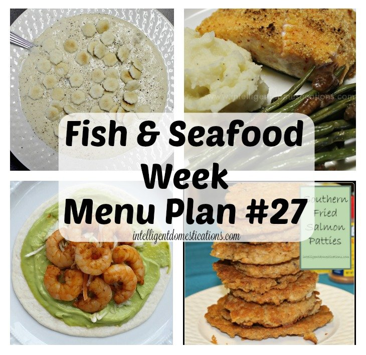 Fish and Seafood recipes for Menu Plan #27
