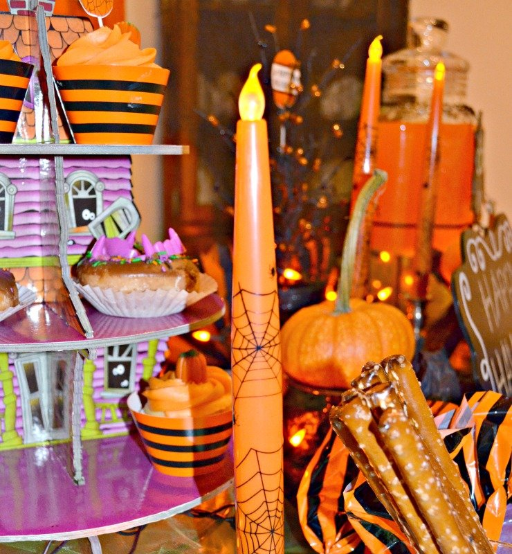 Not So Spooky Halloween Party. Halloween party ideas. Photo of Halloween party food and decor