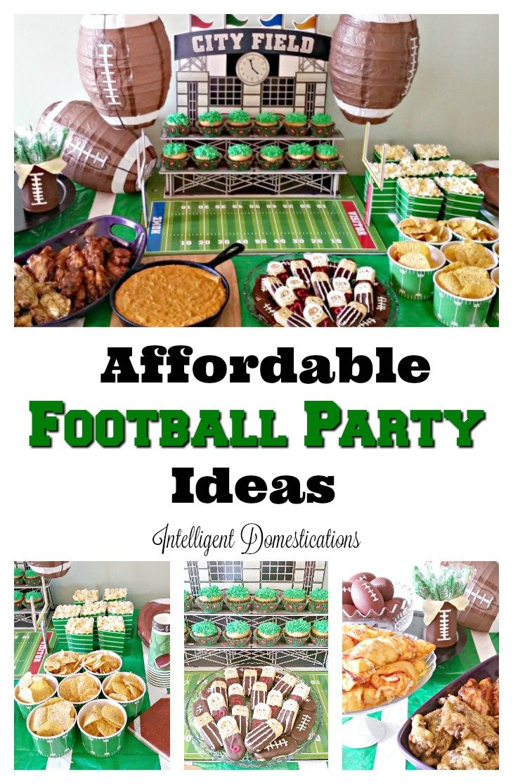 Affordable Football Party Ideas. How to host a frugal football party. Football party ides. #footballparty