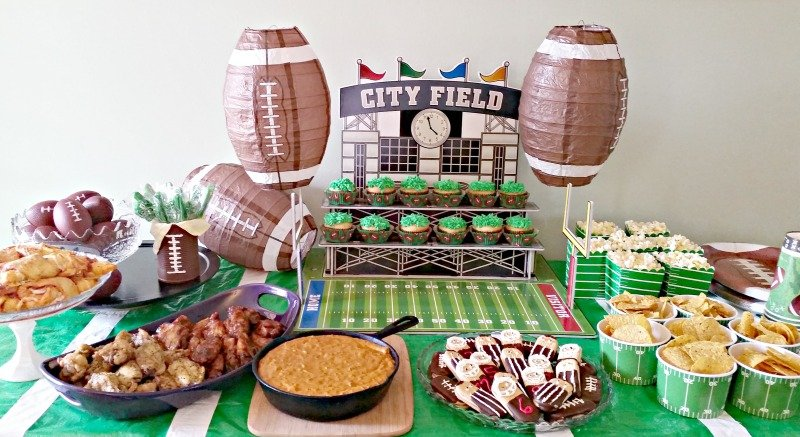 Football party ideas. Football party plans. Football party food and decor. Where to find fun football party decorations at affordable prices. #footballparty