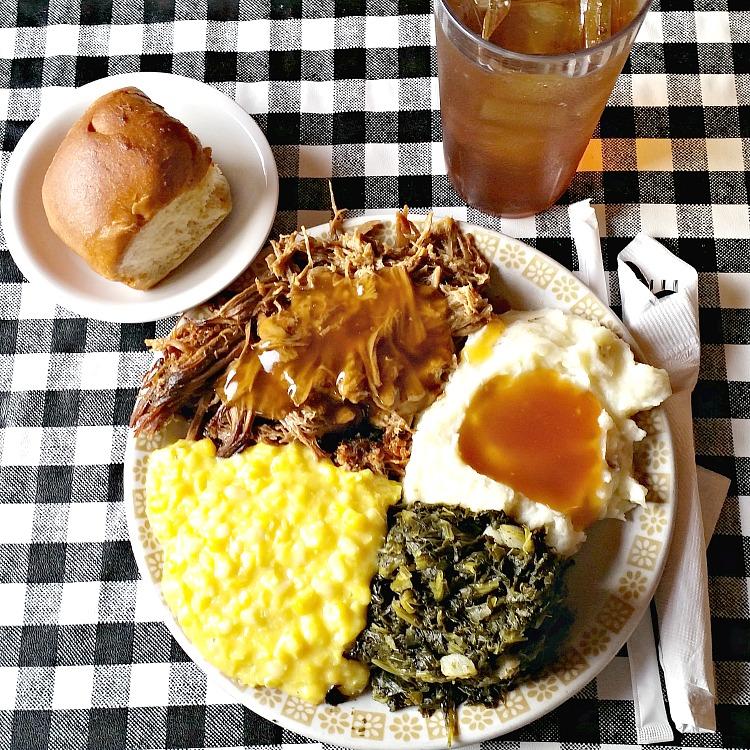 mennonite-restaurant-montezuma-ga-roast-beef-with-gravy-mashed-potatoes-corn-and-turnips-sweet-tea-and-a-roll