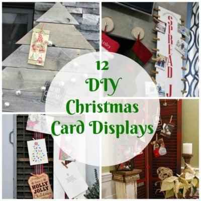 12 DIY Christmas Card Displays