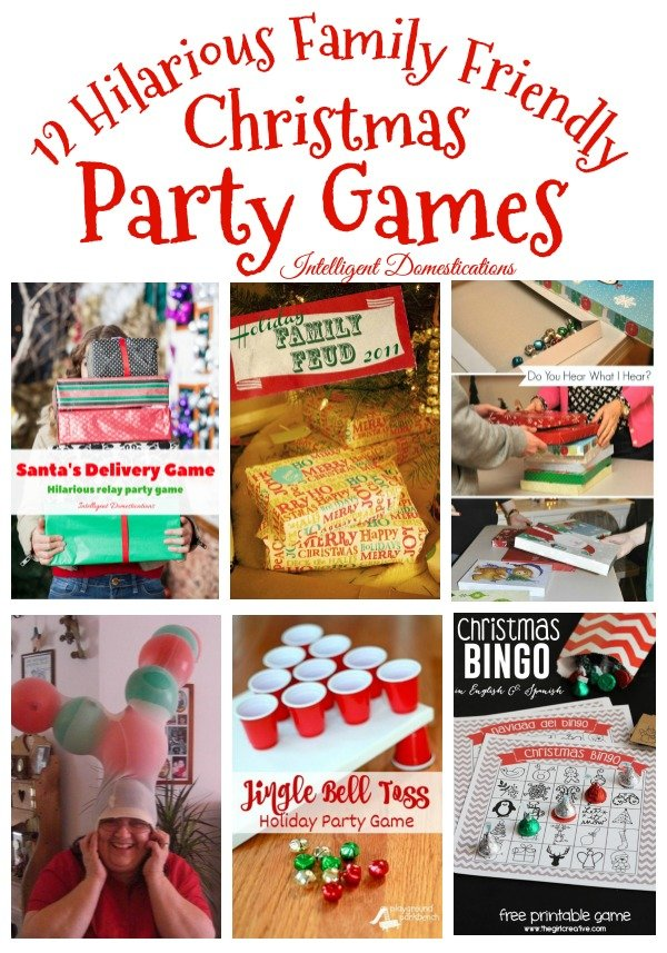 12 Hilarious Christmas Party Games Ideas. Family Friendly Christmas Party Games. #Christmas #FamilyGames