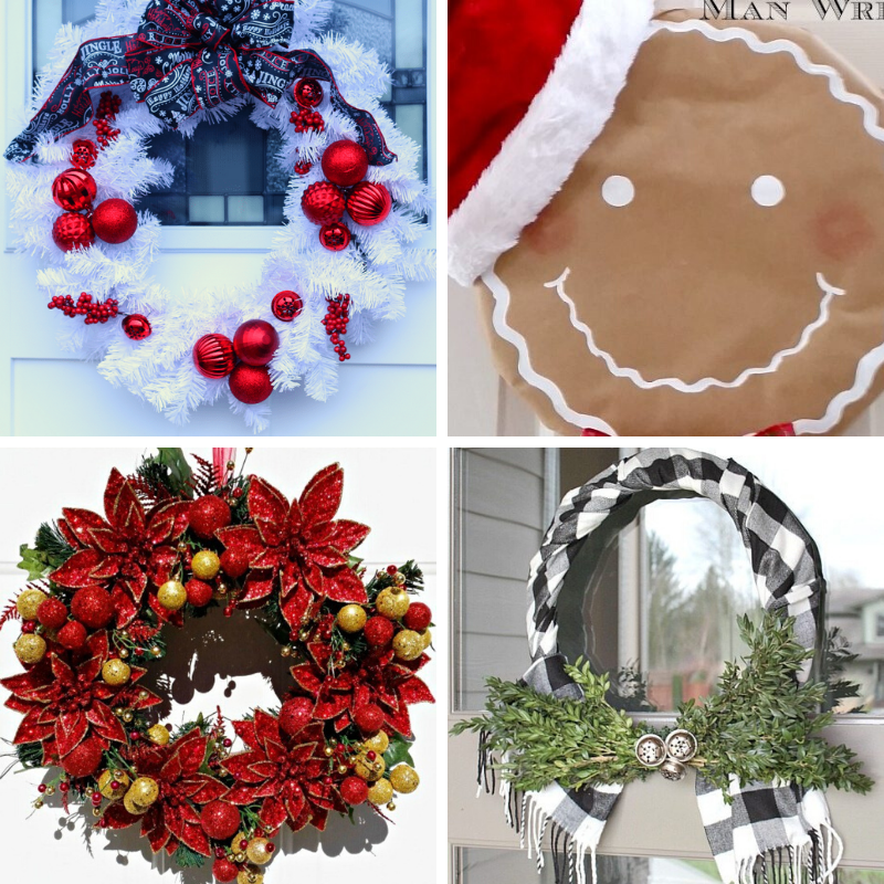 12 DIY Beautiful and Unique Christmas Wreath Ideas