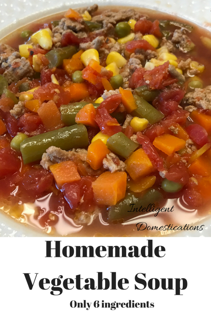 Homemade Vegetable soup with only 6 ingredients