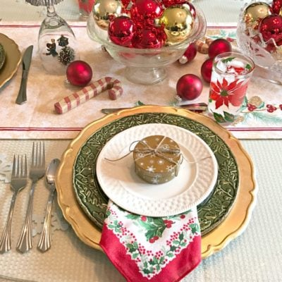 Red & Gold Christmas Tablescape