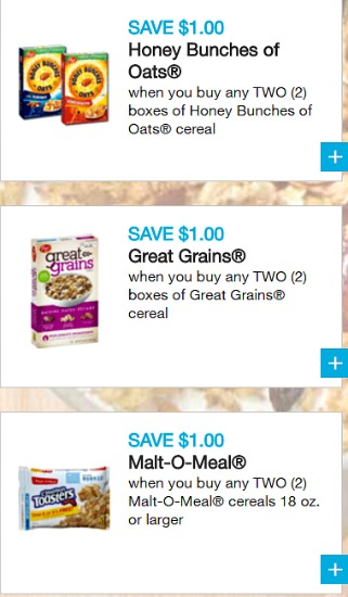 Coupons for Post cereals