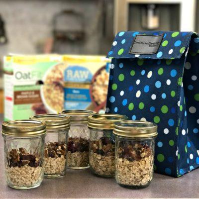 Healthy Morning Routine Brown Bag Breakfast Jars