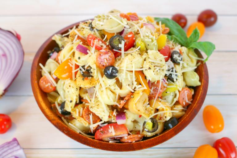 Italian Tortellini Salad at DelightfulEMade.com
