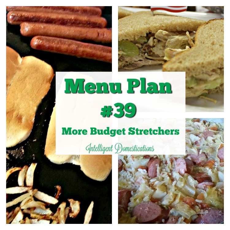 Menu Plan #39 with More Budget Stretcher ideas at Intelligent Domestications