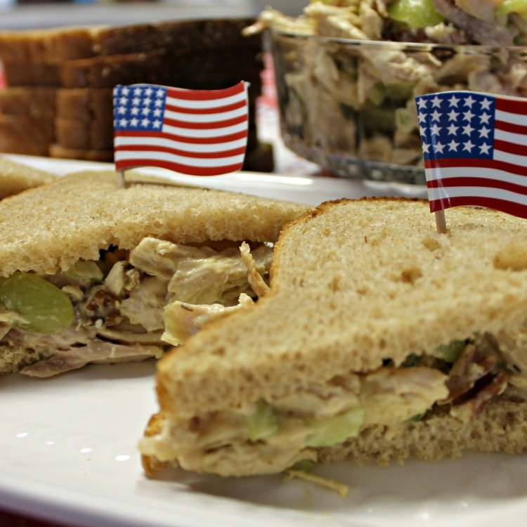 Pecan Honey Mustard Rotisserie Chicken Salad makes yummy sandwiches any time of the year