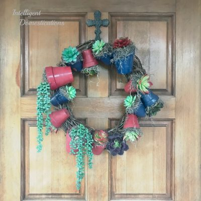 DIY Americana Clay Pot Wreath