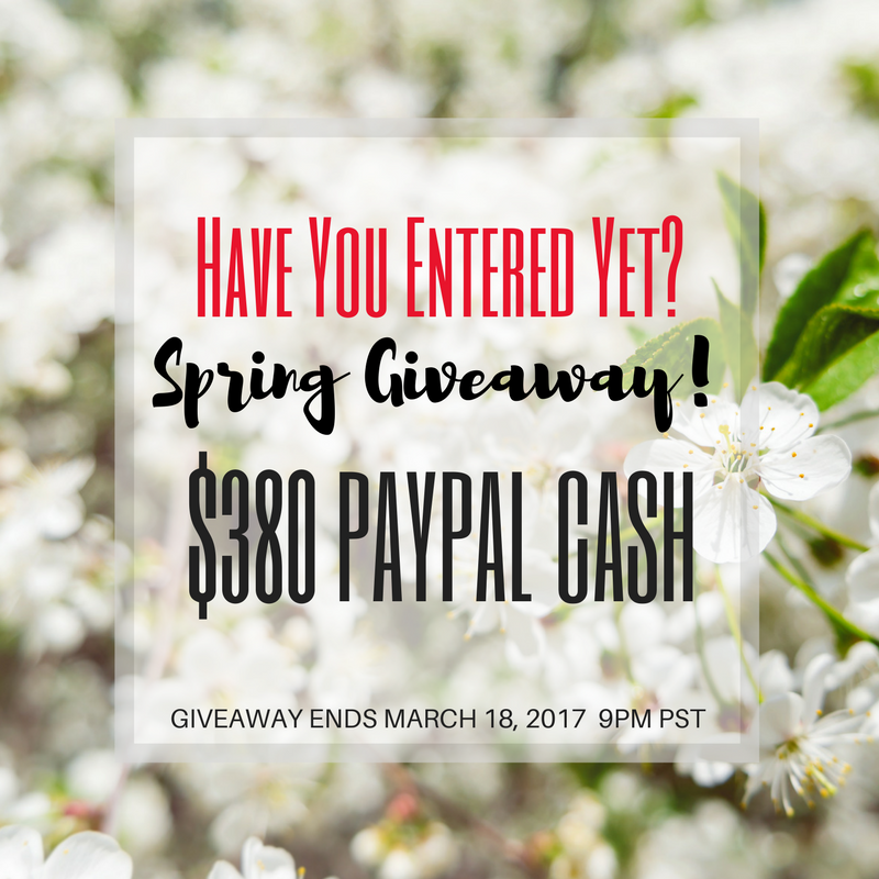 Enter to win $380 Paypal Cash
