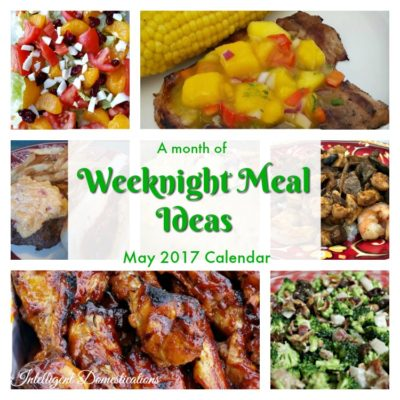 May Monthly Weeknight Meal Plan