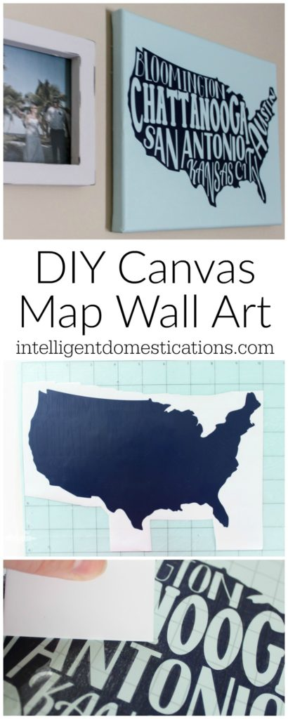 DIY Canvas Map Wall Art Cameo project