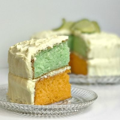 Citrus Cake with Lemon Lime Cream Cheese Frosting