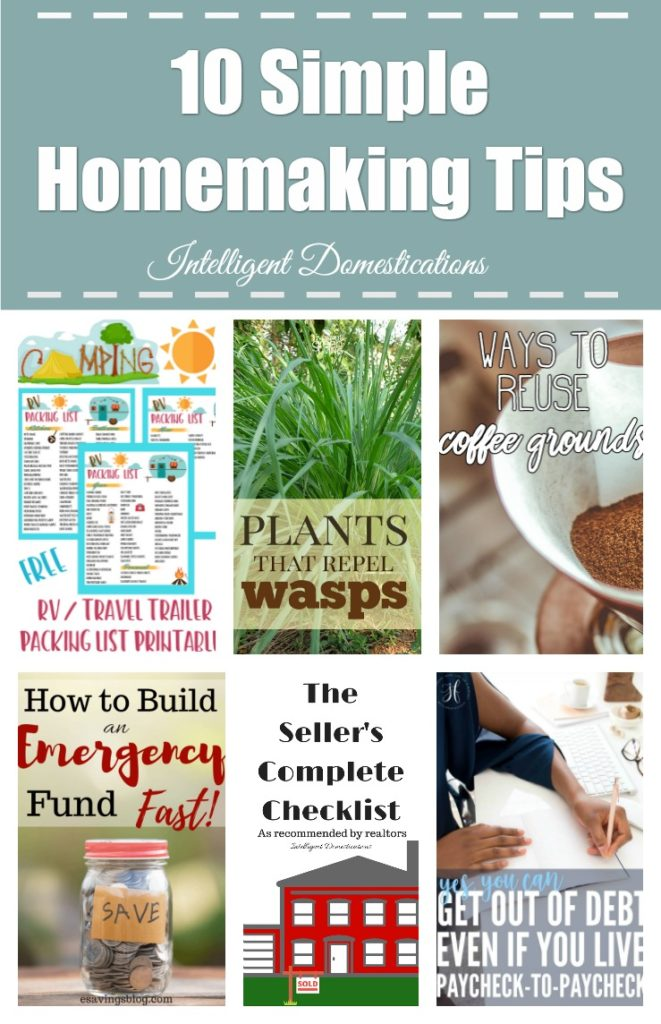 10 Simple Homemaking Tips anyone can use including household finance and free printables to keep you organized.